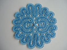 Russian Vologda handmade bobbin lace Table Doily by marinakroub, $15.99