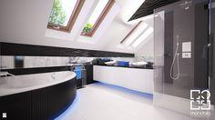 Łazienka na poddaszu w 340m2 domu pod Ostrołęką - zdjęcie od studio_projektowe_mandala - Łazienka - Styl Nowoczesny - studio_projektowe_mandala