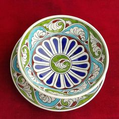 Panda Bowl, Turkish Art, Porcelain Tile, Ceramic Pottery, Glass Art, Ceramics, Antiques, Tableware, Design