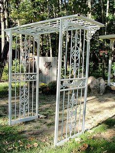 Iron screen doors.
