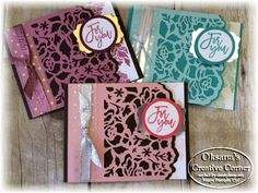 Oksana's Creative Corner: Floral Phrases For You ; Stampin Up; Floral Phrases stamp set; Detailed Floral Thinlits