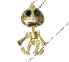 78cm Sweater Chain Necklace Jewelry Toy Shape Golden