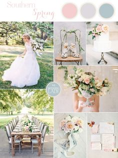 Graceful Southern Spring Wedding in the Country with Delicate Pastels