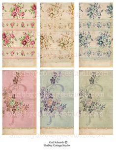 INSTANT DOWNLOAD TAGS Collage Sheet Vintage by shabbycottagestudio, $2.00