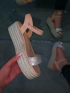 Description : Shoes Style:Wedges,Slip-On Heel Height:Med Heel Type:Wedge Heel Occasion:Holiday,Date,Daily Toe Type:Open Toe Gender:Women Style:Casual,W Cute Sandals, Cute Shoes, Me Too Shoes, Espadrille Sandals, Wedge Sandals, Espadrilles, Summer Sandals, Fashion Slippers, Fashion Sandals