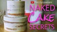 Get that perfectly smooth, oh so elegant semi naked cake look the easy way! Learn my secrets for a fast and beautiful result here! There's also a beautiful r...