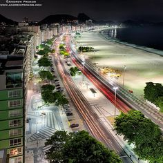 View of Copacabana at Night I - http://andrewprokos.com