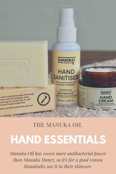 Did you know Manuka Oil has 1000x more antibacterial power than Manuka Honey? This is why it's a hugely prized oil, and super popular in skincare and acne skincare. Manuka Oil, Manuka Honey, Lactic Acid, Palm Oil, Alcohol Free, Lemon Grass, Hand Sanitizer, Natural Skin Care, Moisturizer