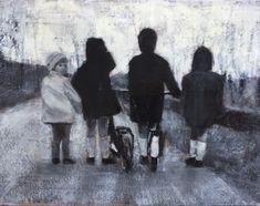 Kunstwerk van Barbara van Marle Looking Back, Van, Painting, Painting Art, Paintings, Vans, Painted Canvas, Drawings, Vans Outfit