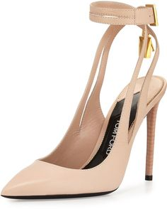 Shop for Leather Ankle-Lock Pump, Nude by Tom Ford at ShopStyle. 708259d50b