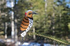 flicker felt ornament