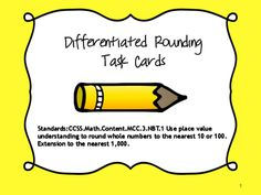 Rounding Task Cards from Teaching Princess on TeachersNotebook.com -  (12 pages)  - Rounding Task Cards They can be used as an assessment piece to determine comprehension of the rounding skill.