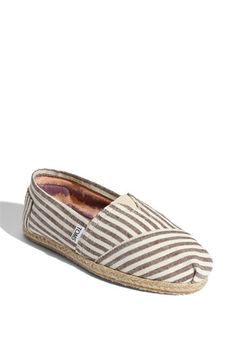 #TOMS 'Classic Stripe' Rope Sole Slip-On - these would be great for summer boating season!