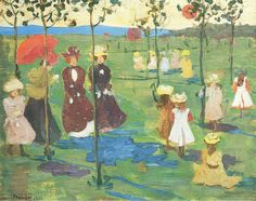 Maurice Prendergast (1858-1924) - Franklin Park Boston (1895) -