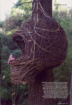 casa en el arbol.....nido!