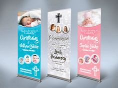 Ideal Pop Up Banners for Christenings, Communions & Confirmations. Even for birthday parties and other events. From each Designed, Printed & Delivered. Wedding Invitations Online, Wedding Stationery, Wedding Table, Wedding Reception, Roll Up Design, Pop Up Banner, Ireland Uk, Cork City, Banner Printing