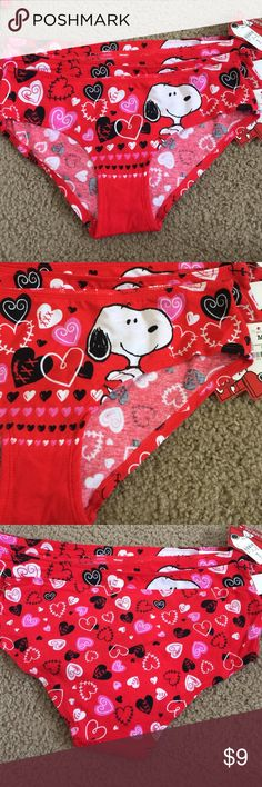 Peanuts over you Peanuts with hearts all over, super cute panty all sizes available below Intimates & Sleepwear Panties