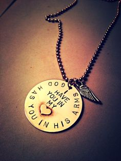 Memorial/In Memory Of Necklace God Has You by ToriaWarrenDesigns, $35.00