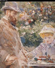 Berthe Morisot Detail of Manet and his daughter