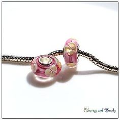 silver 925 single core glass bead/charm for european style bracelet