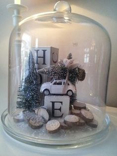 Love this- with Noel blocks Christmas Jars, Christmas Love, Rustic Christmas, Winter Christmas, All Things Christmas, Vintage Christmas, Winter Diy, Decoration Christmas, Xmas Decorations