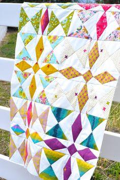 A Crafty Fox Amanda's beautiful quilt using Alison Glass's new fabric line Clover Sunshine