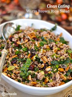 Clean Eating Warm Brown Rice Salad | eMeals More