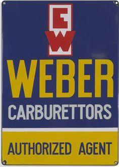 Authorized Agent sign for Weber Carburetors.