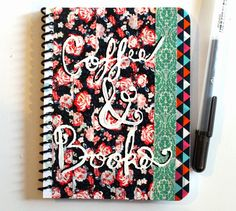 punk projects: Coffee and Books Floral Notebook