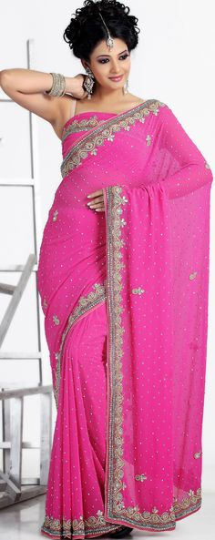 Pink Latest #Party #Wear #Saree Blouse | @ $143.31