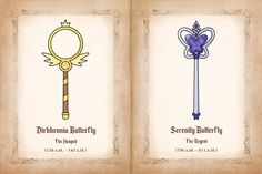 The Wands of Dirhhennia and Serenity Butterfly by jgss0109