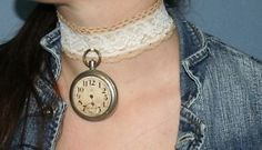 ✿ڿڰۣ(̆̃̃•Aussiegirl  pocket watch chocker.