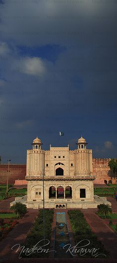 Monsoon season, Alamgiri Gate, Lahore Fort, Pakistan. The Lahore Fort, locally referred to as the Shahi Qila, is a citadel in the city of Lahore. It is located in the northwestern corner of the Walled City of Lahore in Iqbal Park, which is one of the largest urban parks in Pakistan. (V)