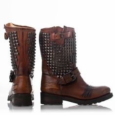 Ash Trash Biker Boot Miel Leather - Ash Boots