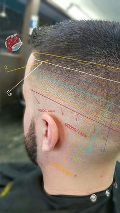 Mid skin fade diagram.: