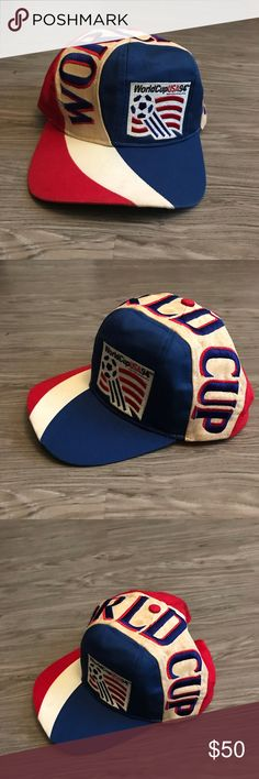 540cb59620e 1994 BIG LOGO USA WORLD CUP SNAPBACK TEAM USA World Cup USA 94 Vintage 1994  Official