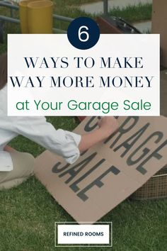 Ready to make money while you declutter? Follow these six simple yard sale tips to maximize your garage sale profits. Get tips on yard sale pricing, yard sale display ideas, and yard sale organization. Garage Sale Organization, Small Bathroom Organization, Organization Ideas, Garage Sale Pricing, Garage Sale Tips, Declutter Home, Decluttering, Getting Organized At Home, Sell Your Stuff