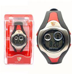 Reloj pulsera digital Caballero Sevilla F.C. - Reloj pulsera digital tamaño caballero del Sevilla Futbol Club, esfera:47mm