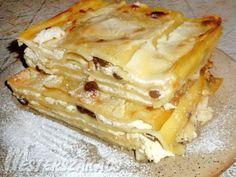 Szatmári rakott tészta recept Hungarian Recipes, Apple Pie, Lasagna, Ale, Main Dishes, Vegetarian, Yummy Food, Sweets, Ethnic Recipes