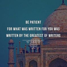 Patience is everything! #Islam #Religious #Quotes