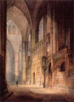 St. Erasmus in Bishop Islips Chapel, Westminster Abbey  Artist: William Turner