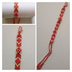 Friendship bracelet with bead detail