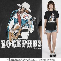 Vintage 80s Bocephus Hank Williams Jr Country Western Rockabilly King T Shirt