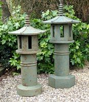 Kate Mellors Ceramic garden lanterns