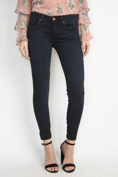 Blank 90210 Dark Skinny Jeans in DARK DENIM - front view