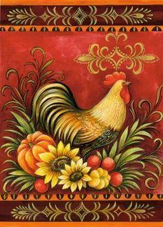 Medium - Rooster illustration