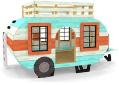 Happy Camper Playhouse Plan #PlayhousePlans