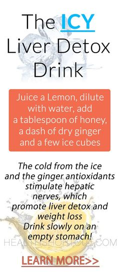Using the Icy Ginger Drink to Lose Weight and Detox the Liver