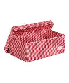 Look at this #zulilyfind! Red Check Large Storage Box #zulilyfinds
