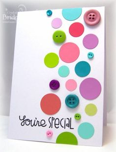 Paint Chip Polka Dots by bfinlay - Cards and Paper Crafts at Splitcoaststampers